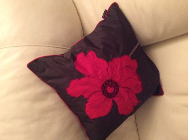 Black and red cushions X 3