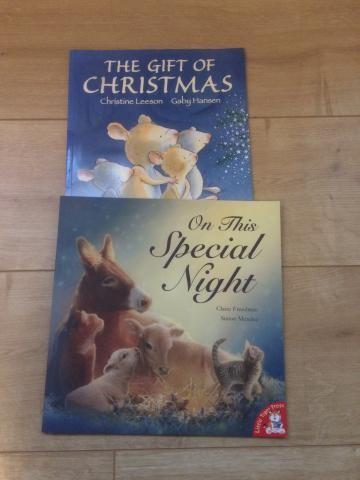 2 Children's Christmas story books