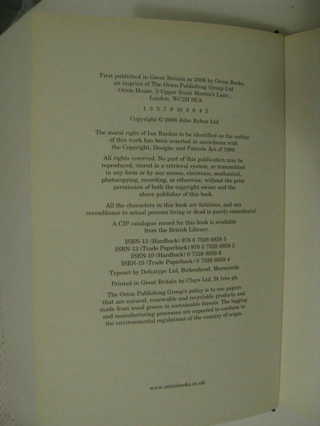 Ian Rankin - Hardback - The Naming of the Dead - 1st Edition