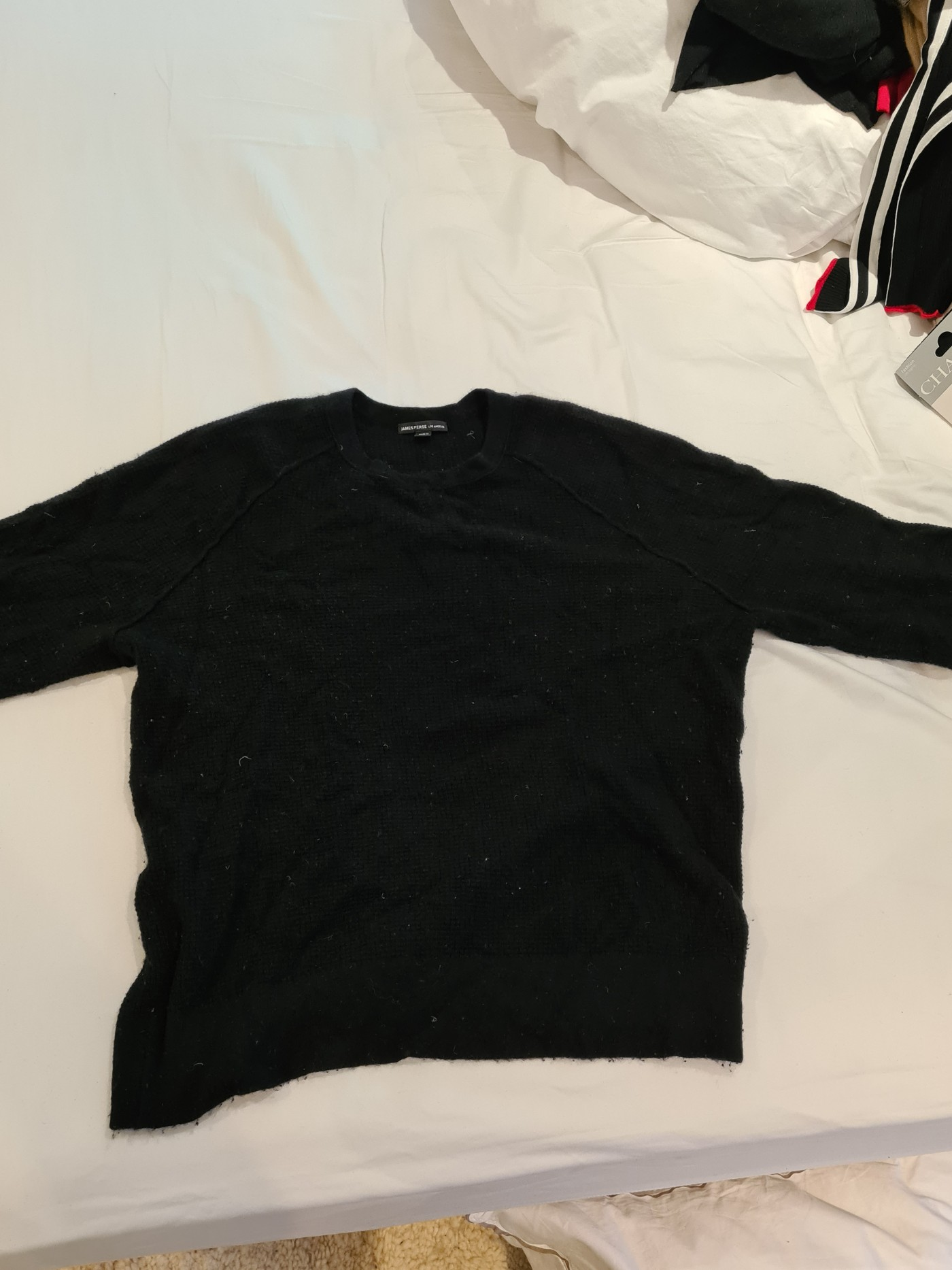 James perse black jumper size M