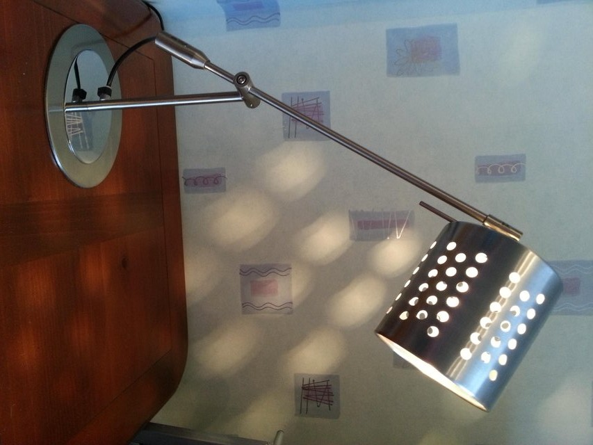 Anglepoise stainless steel lamp