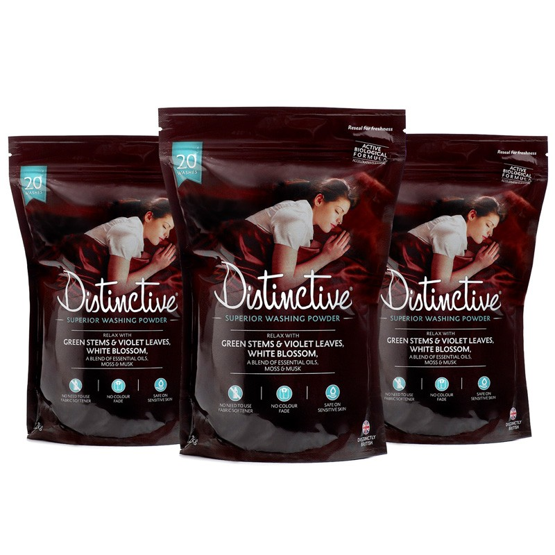 Distinctive washing powder (3 packs) - Relaxing Essential Oils Fragrance