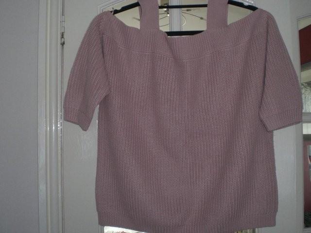 Ladies Dark Pink, Off-Shoulder Top, size 12