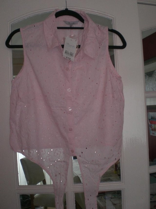 Ladies Brand New Light Pink Blouse, Peacocks, Size 14