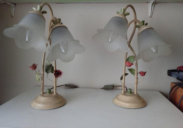 2 TABLE/BEDSIDE LAMPS
