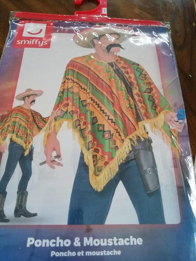 Smiffy's Mexican Poncho fancy dress