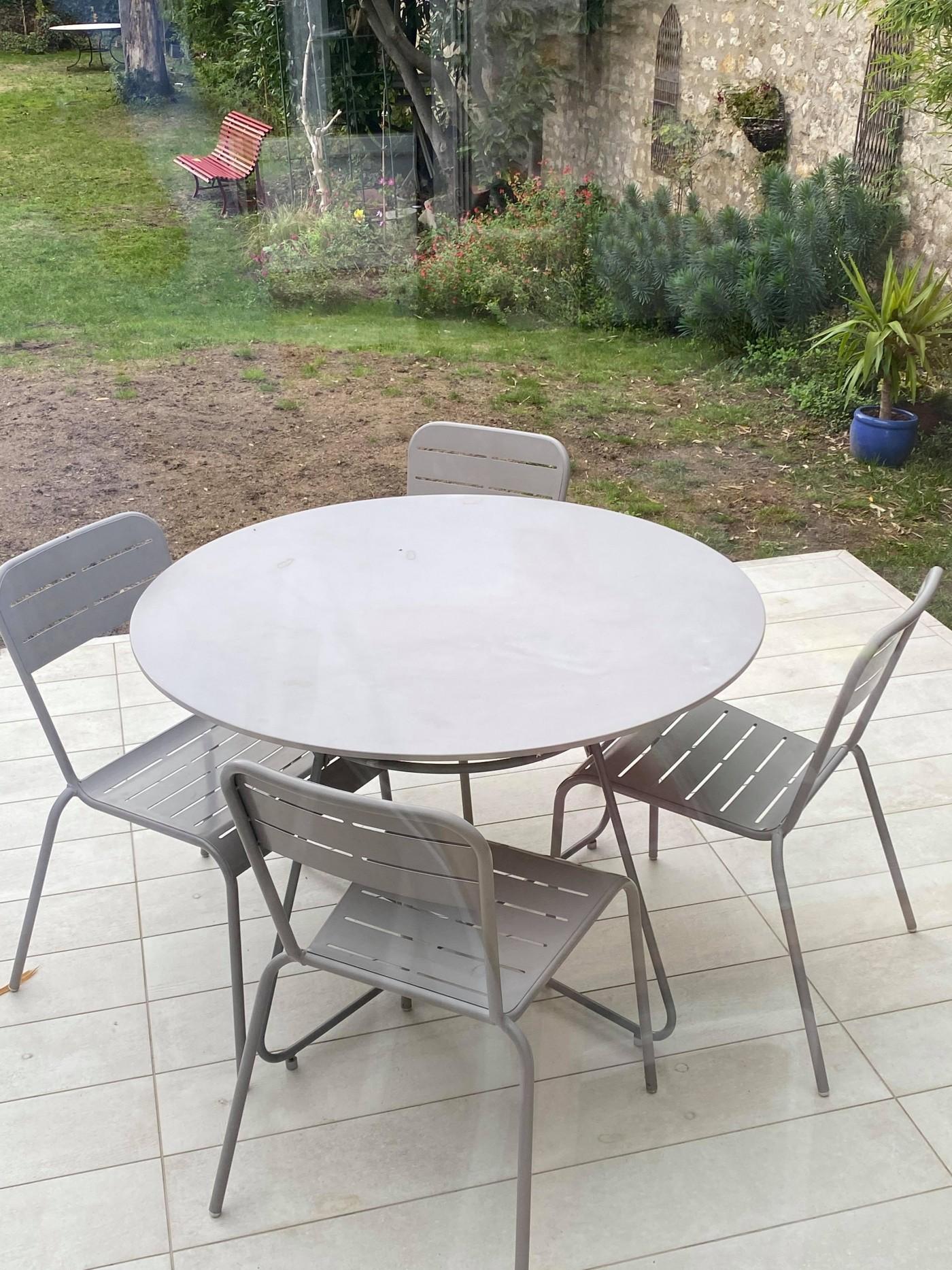 Lot de 4 chaises de jardin