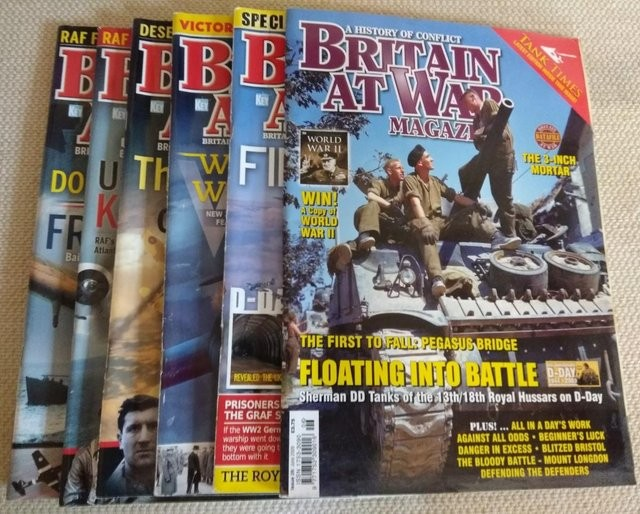 BRITAIN AT WAR MAGAZINES - 6 ISSUES