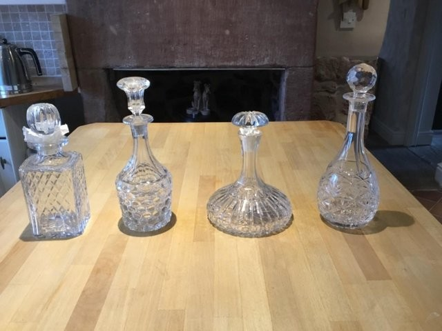 4 Crystal decanters