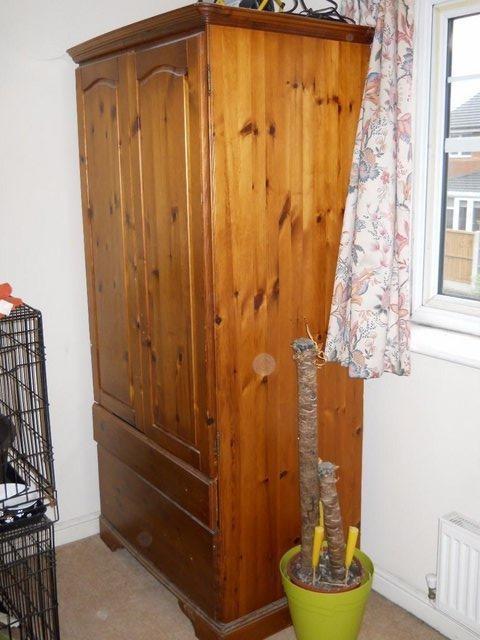 Antique pine Wardbrobe ready now March 21