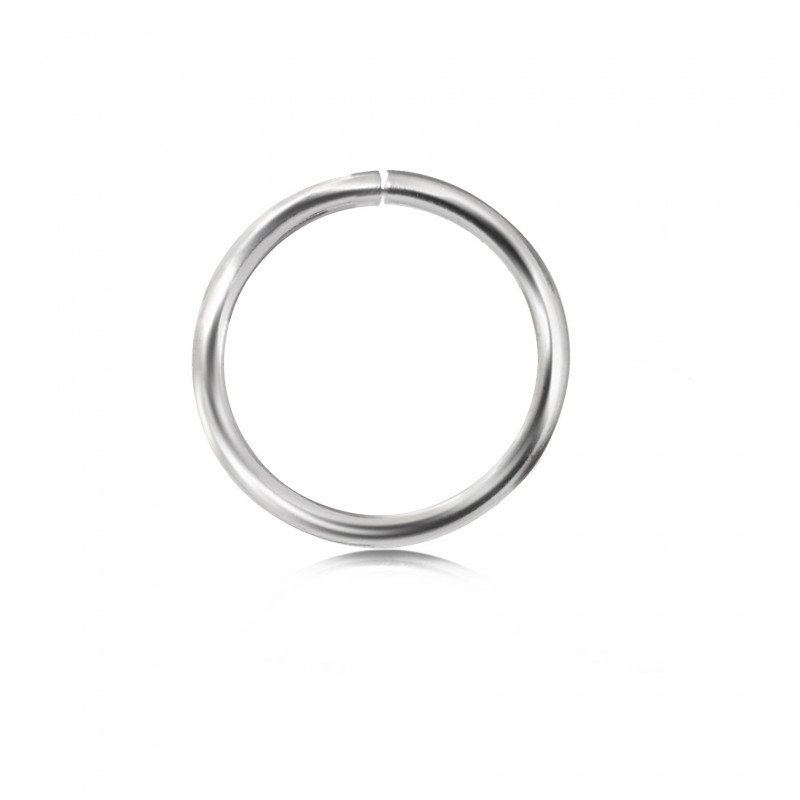 Extra Strong Open Jump Rings in Sterling Silver – 25mm Diameter – 2.5mm Thickness