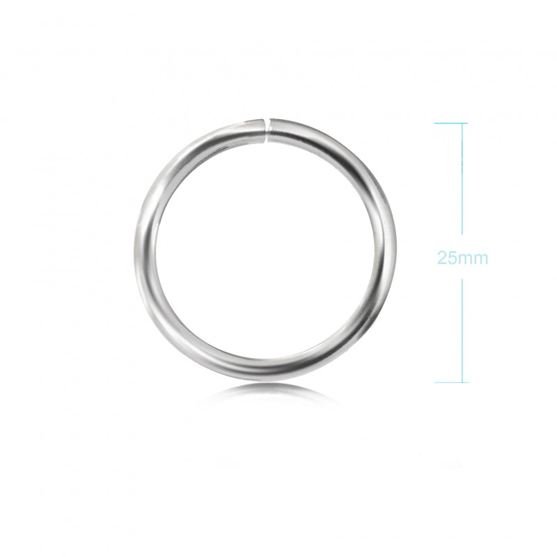 Extra Strong Open Jump Rings in Sterling Silver – 25mm Diameter – 2.5mm Thickness 2