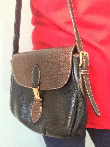 Redwall dark/ mid brown handbag with adjustable strap
