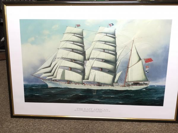 TALL SHIP FRAMED PRINTS 37x26 inches