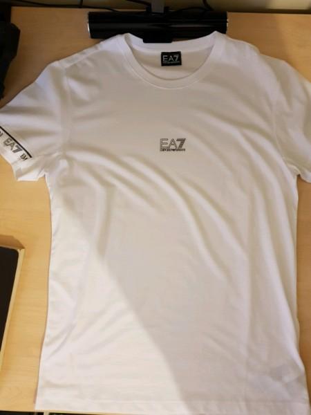 White Emporio armani t-shirt