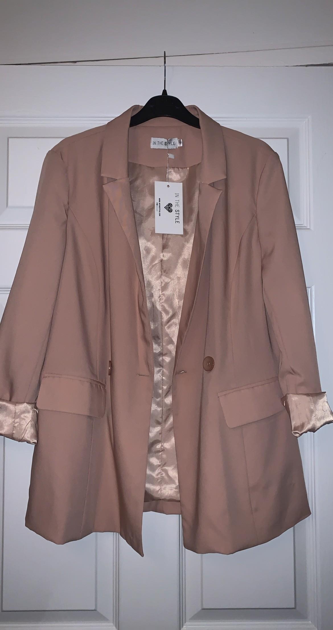 Blush / pink In The Style Blazer