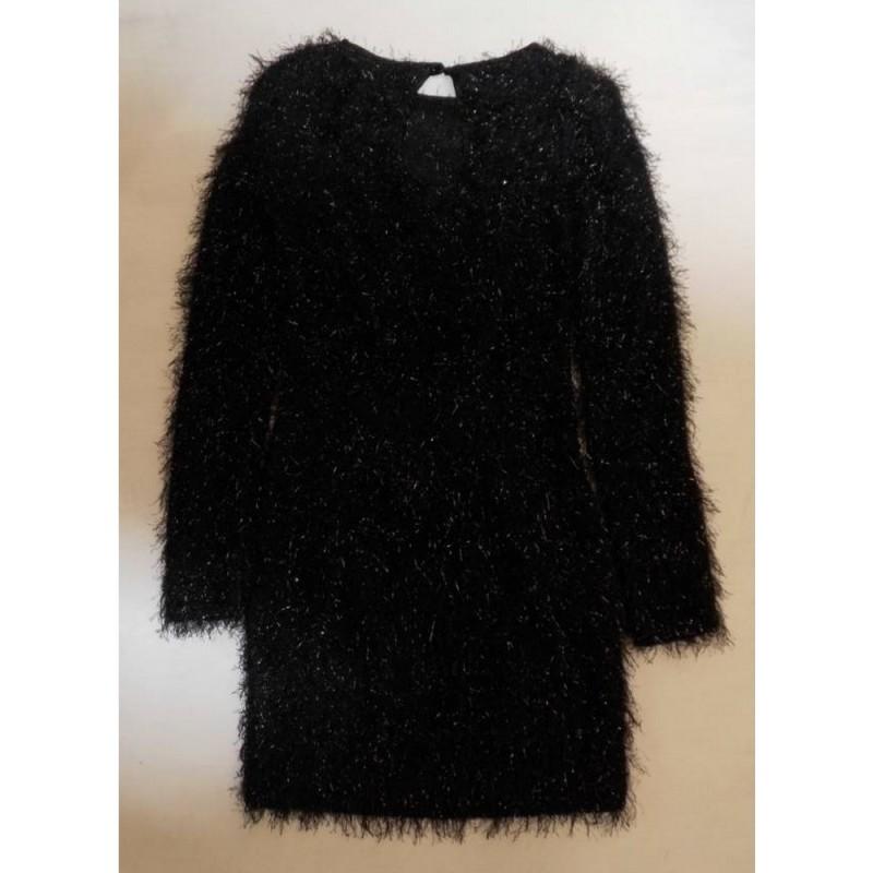 River Island Dress Black Sparkle Size: 6