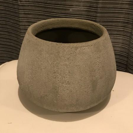 Cache pot boule en ciment