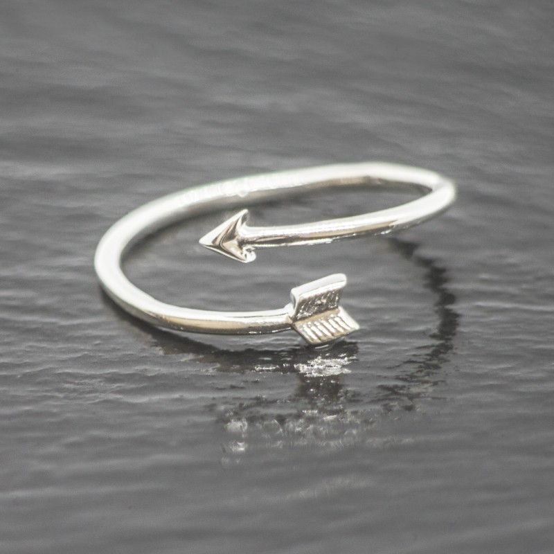Adjustable Arrow Ring in Sterling Silver