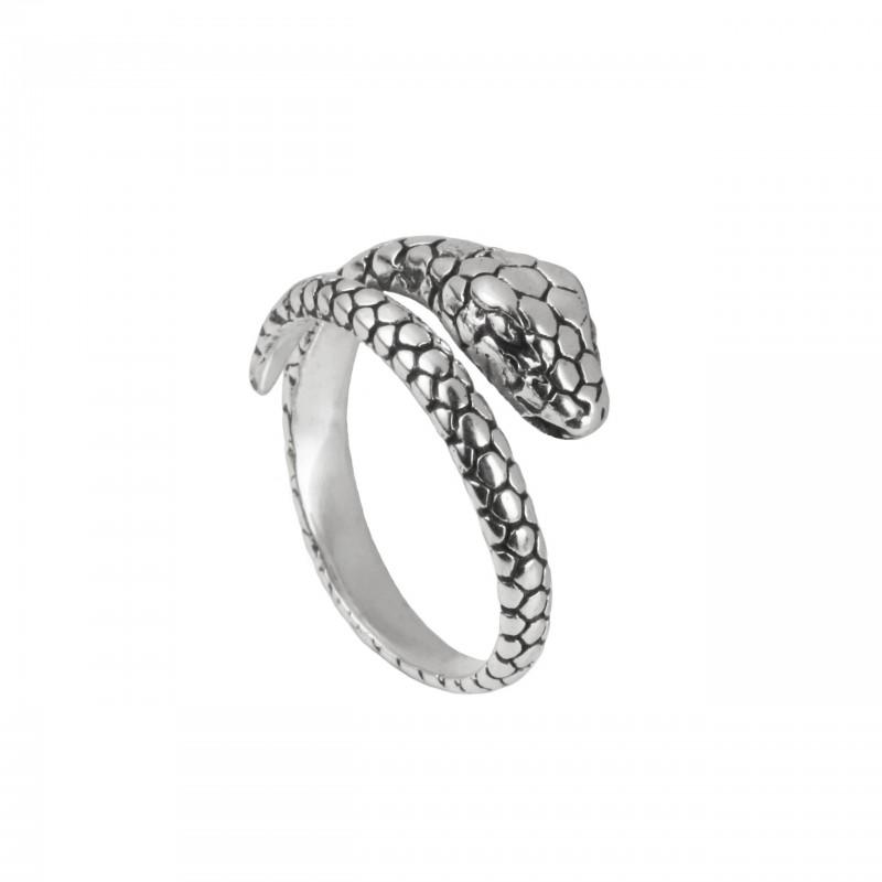 Adjustable Snake Ring in Sterling Silver