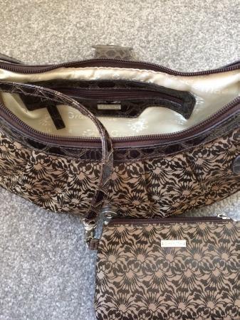 Gracie Mae small brown handbag with matching purse