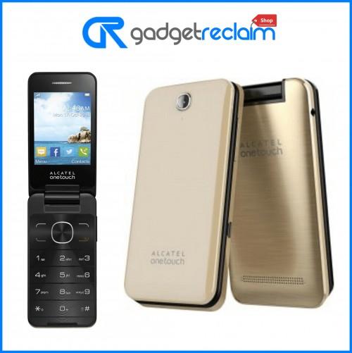 Alcatel 2012G Flip Phone | Gold | Unlocked | Grade C