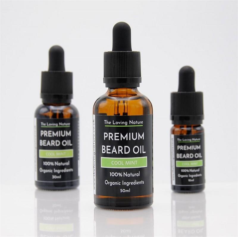All Natural Premium Beard Oil - Cool Mint