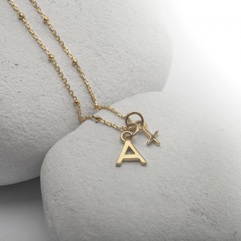 Alphabet Necklace in Gold Vermeil 1