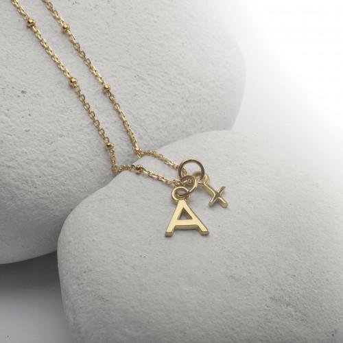 Alphabet Necklace in Gold Vermeil