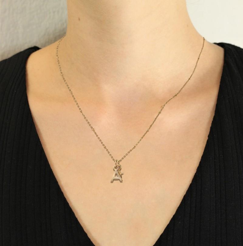 Alphabet Necklace in Gold Vermeil 2