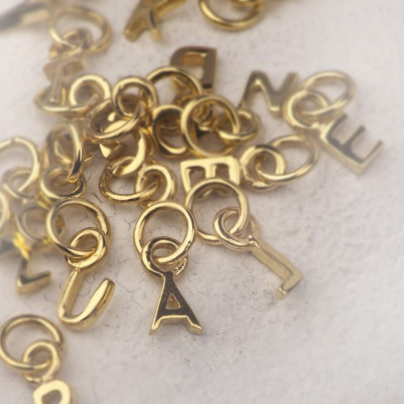 Alphabet Necklace in Gold Vermeil 4