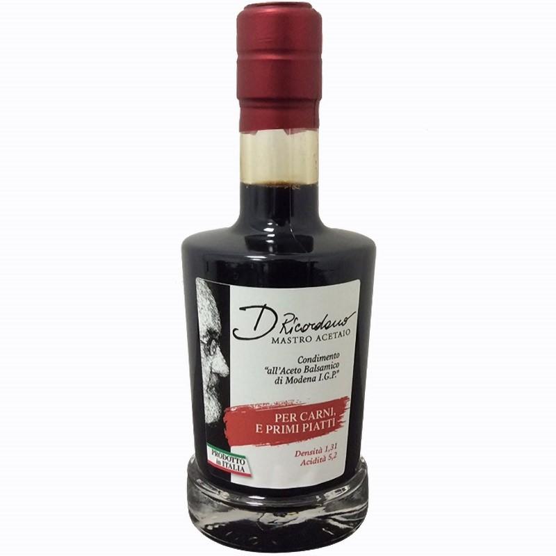 Balsamic Vinegar Modena IGP Dressing for Meat and Platter 250ml - Ricordano
