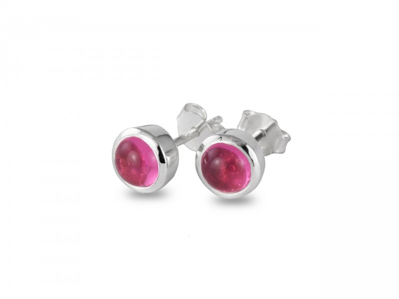 October Birthstone Jewellery Set with Pink Tourmaline – Studs and Pendant Necklace 5