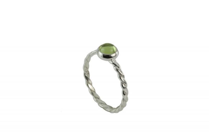 Birthstone Silver Ring – August– Peridot Gemstone