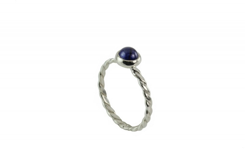 Birthstone Silver Ring – September– Genuine Blue Sapphire Gemstone