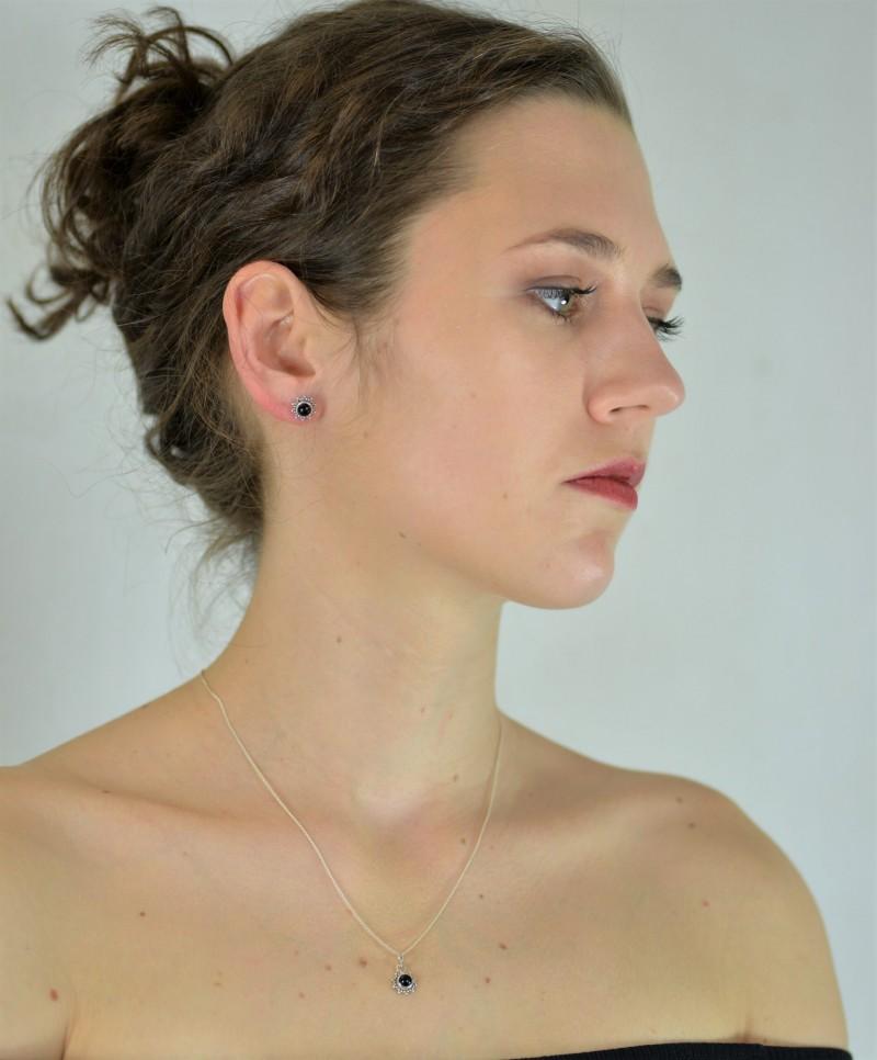Black Onyx Star Motif Jewellery set in 925 Sterling Silver 2