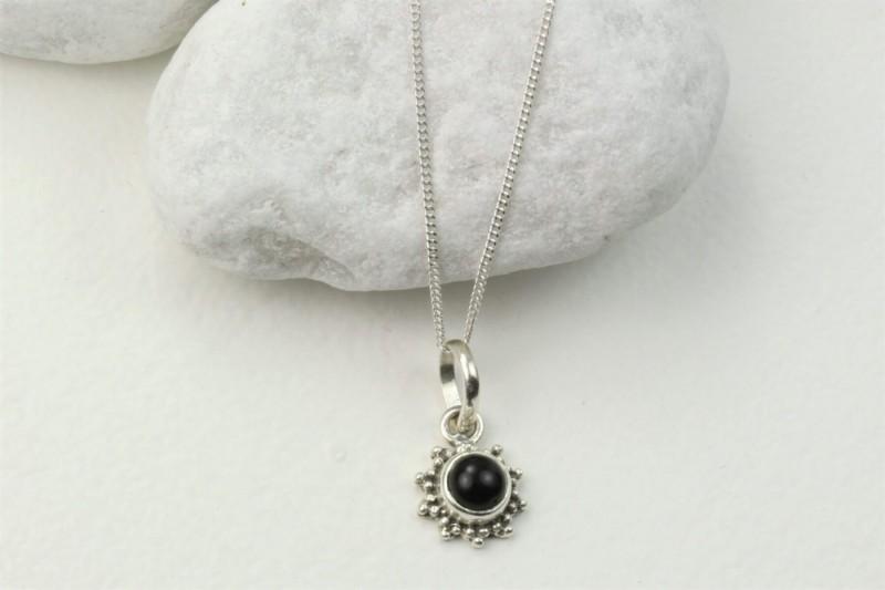 Black Onyx Star Motif Jewellery set in 925 Sterling Silver 3