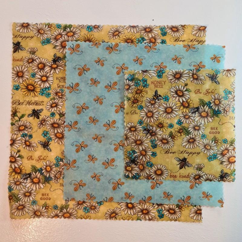 Beeswax wraps - Queen Bee Kind design