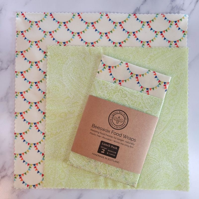 Bunting and Paisley Lunch Pack of Two Wraps