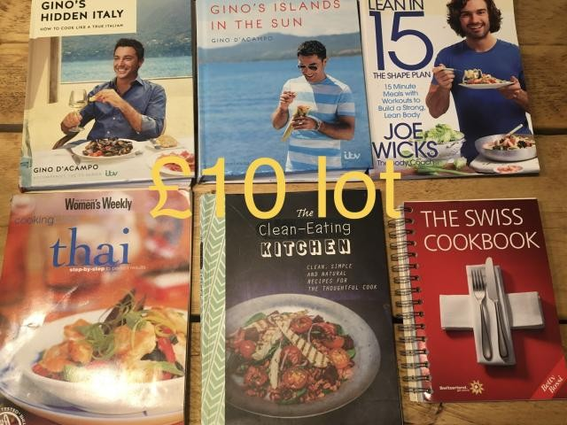collection 6 cookery books