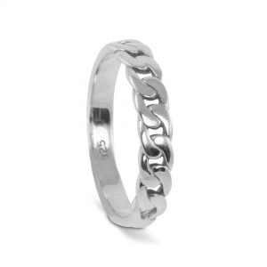 Chain Band in Sterling Silver