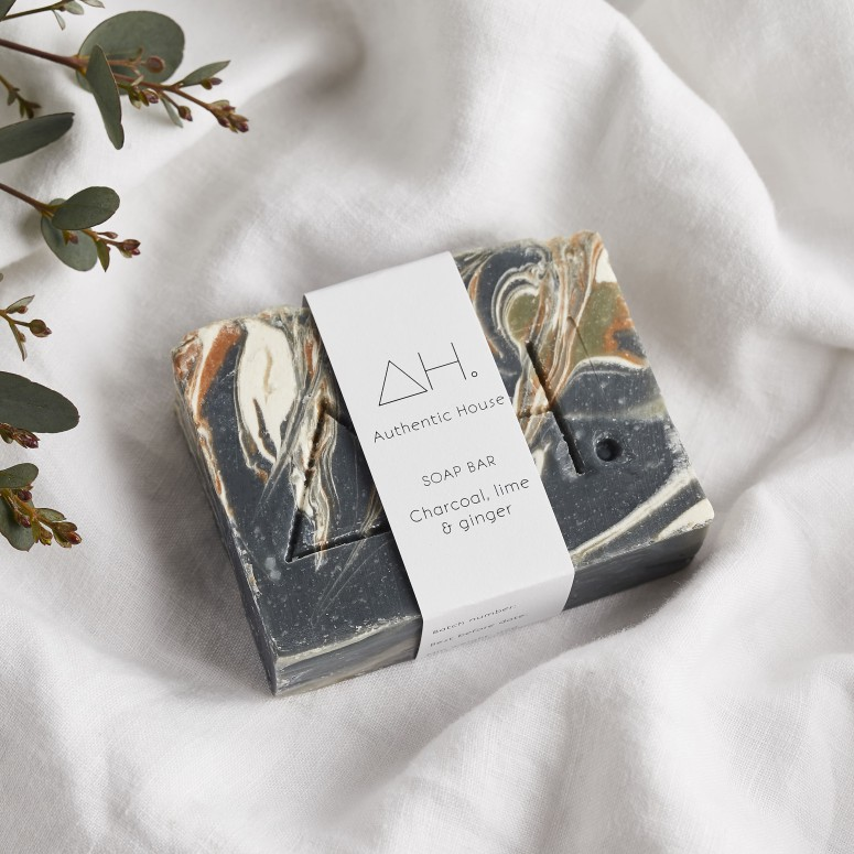 Charcoal, lime & ginger soap