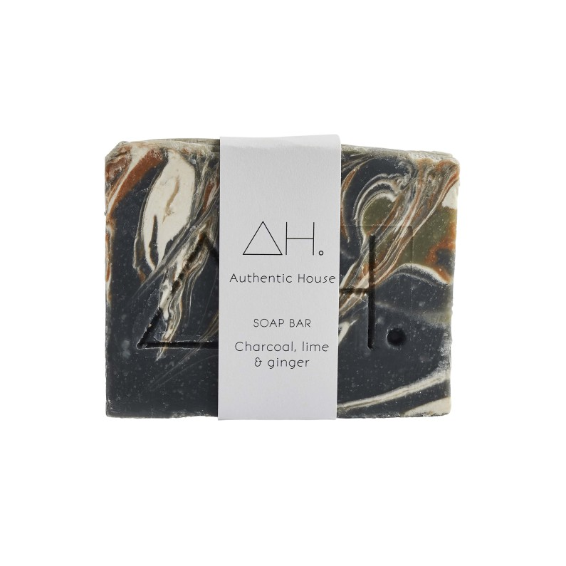 Charcoal, lime & ginger soap 3