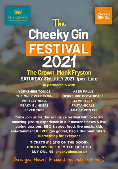 Cheeky Gin Festival 2021 - Monk Fryston, Yorkshire