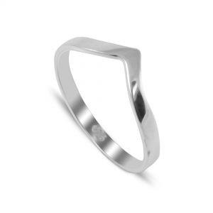 Chevron Ring / Wishbone Ring in Sterling Silver