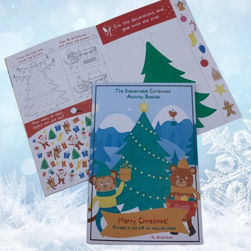 Children's Activity Booklet for Christmas Eve Box,  Eco Friendly, Printed on Recycled Paper