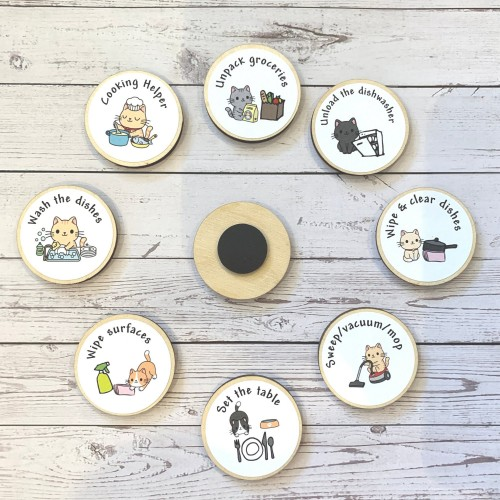 Chore tokens, routine wooden magnet tokens - choose your own