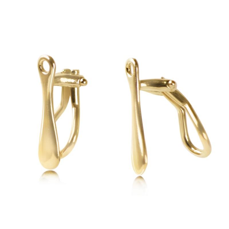 Clip-On Earring Findings for non-pierced ears in Gold Vermeil