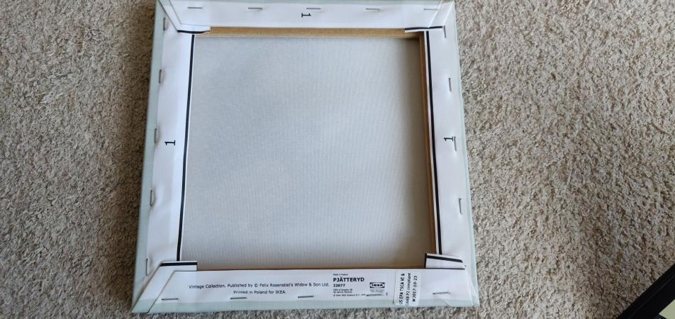 IKEA PJATTERYD World Map Canvas Prints Set 25cm x 3
