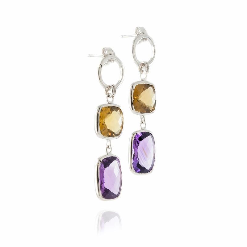 Desert Arabian Nights Chandelier Earrings in Sterling Silver